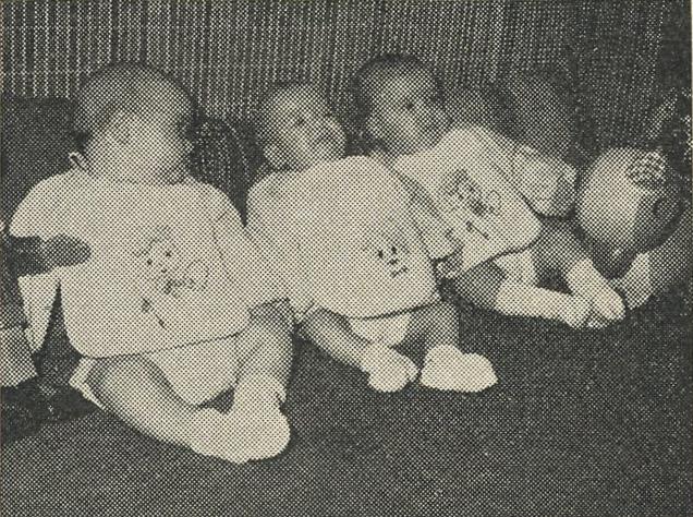 Maria Cristina, Maria Chiara e Maria Francesca a 5 mesi